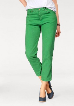 7/8 jeans, green