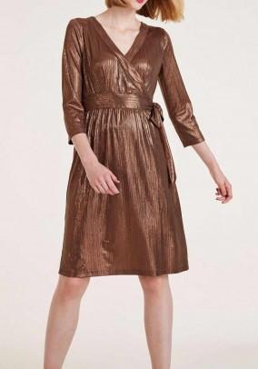 Dress, brown-metalic
