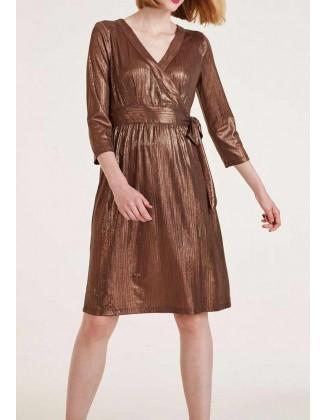 Ruda blizgi suknelė