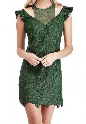Lace dress, green