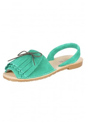 Velours sandal, mint green