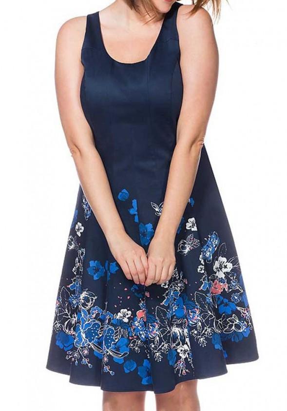 Sheego suknelė su gėlių motyvais
