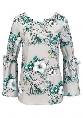 Print blouse, grey