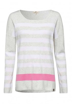 Knit sweater, grey-rose