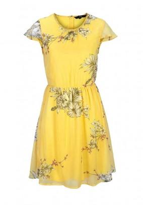 """Geltona Vero moda suknelė """"Satina"""""""