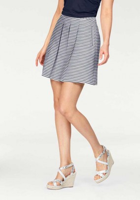 Skirt, navy-white