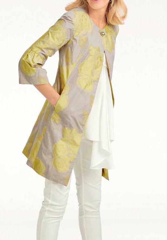 Ilgas geltonas švarkas
