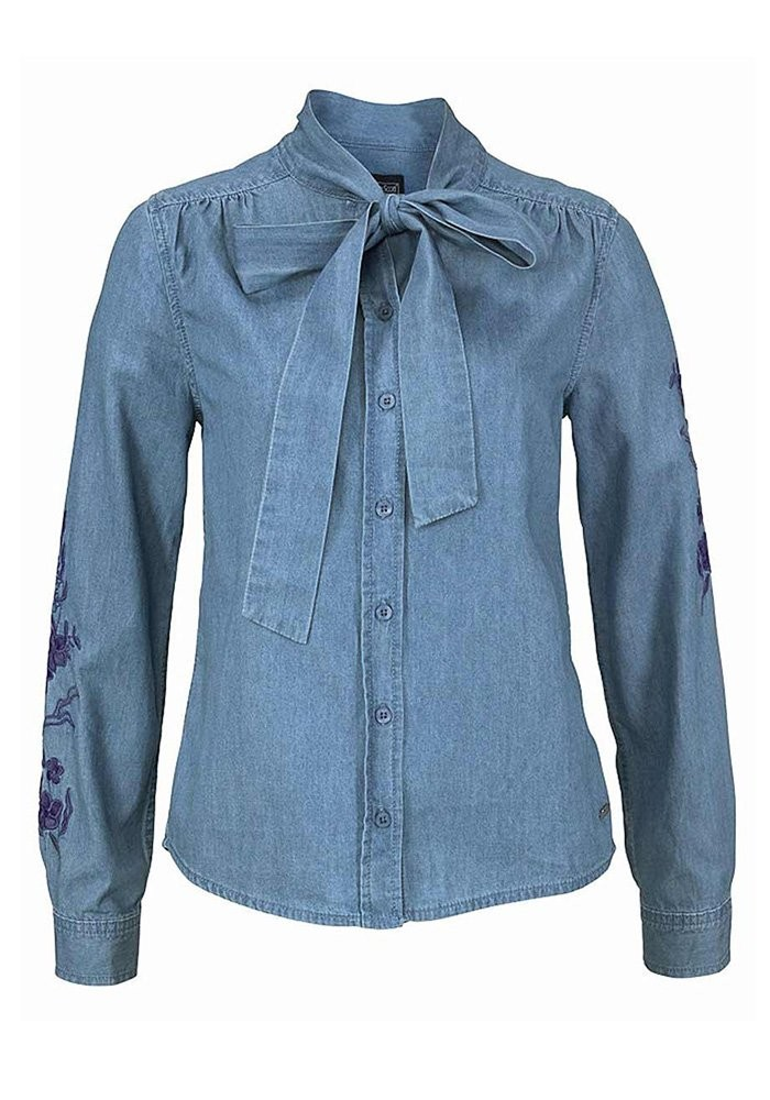0f1a7a4dd6 Denim blouse with embroidery, blue