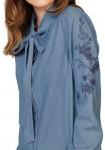 Mėlyni siuvinėti marškiniai