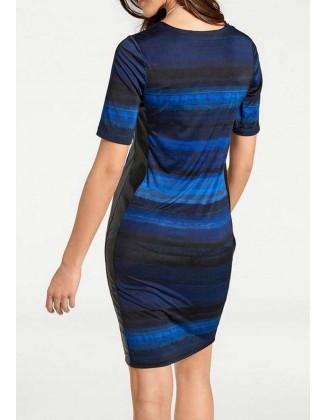 "Mėlyna aptempta suknelė ""Zoya"""