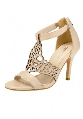 Leather sandals, beige