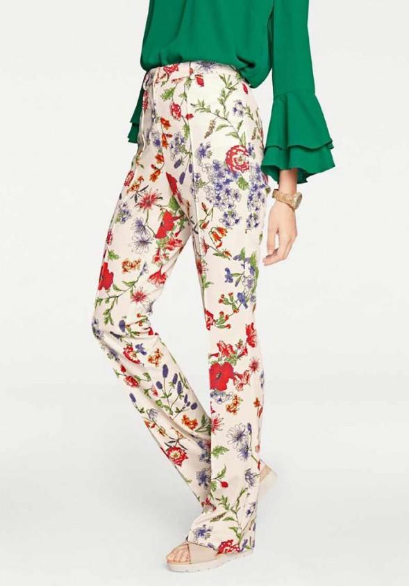 Gėlėtos vasarinės kelnės