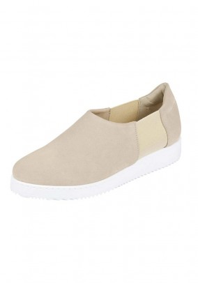 Velours slippers, beige