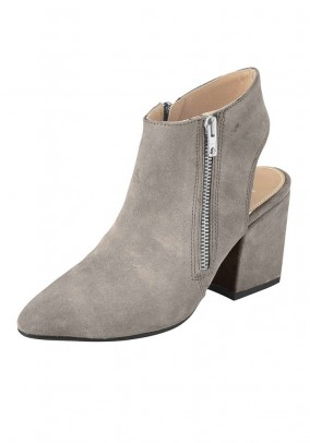 Velours bootie, grey