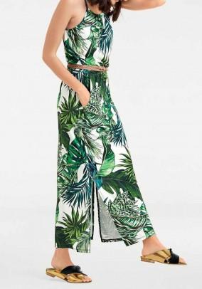 Maxi dress, white-green