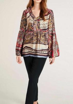 Satin blouse, multicolour