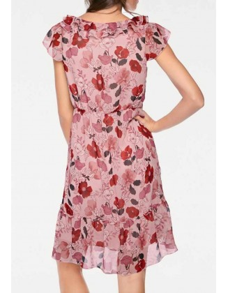 """Rausva vasarinė suknelė """"Lipsy"""""""