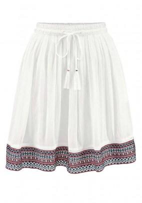 Brand skirt, white