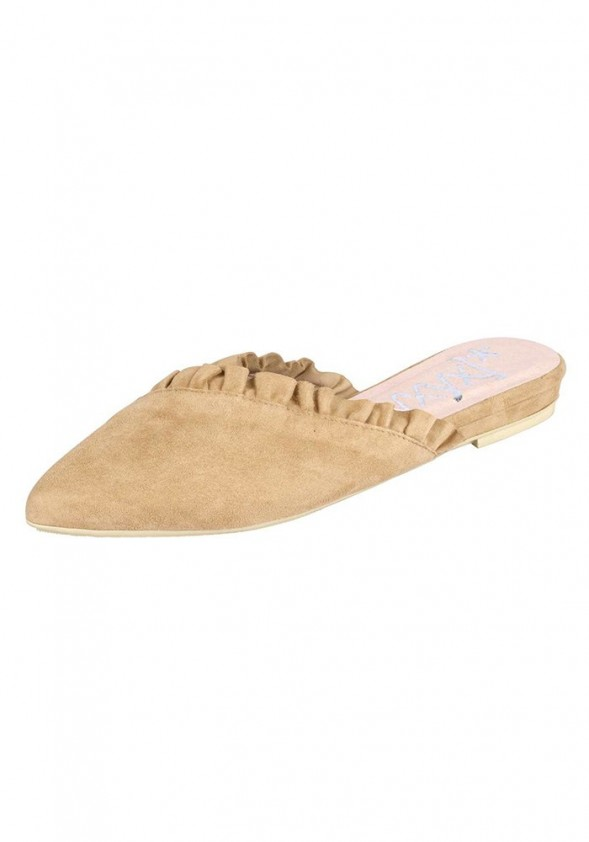 Velours slipper, beige