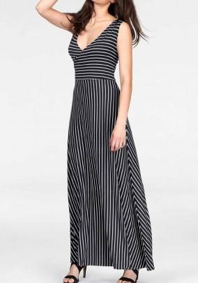 Maxi dress, black-white
