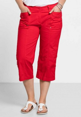 Variable 3/4 trousers, red
