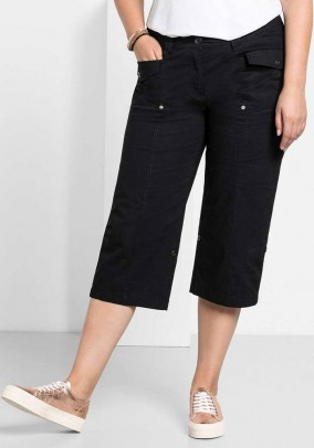 Variable 3/4 trousers, black
