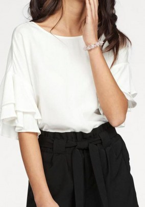 Blouse shirt, white