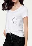 Marškinėliai su dekoruota kišene