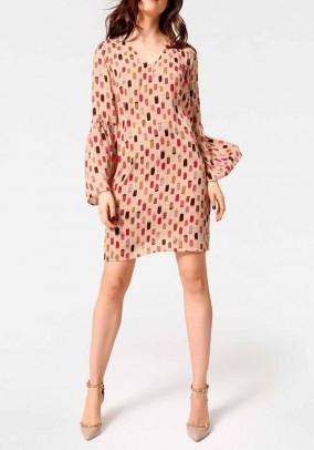 Print dress, apricot-multicolour