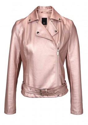 Biker jacket, metalic