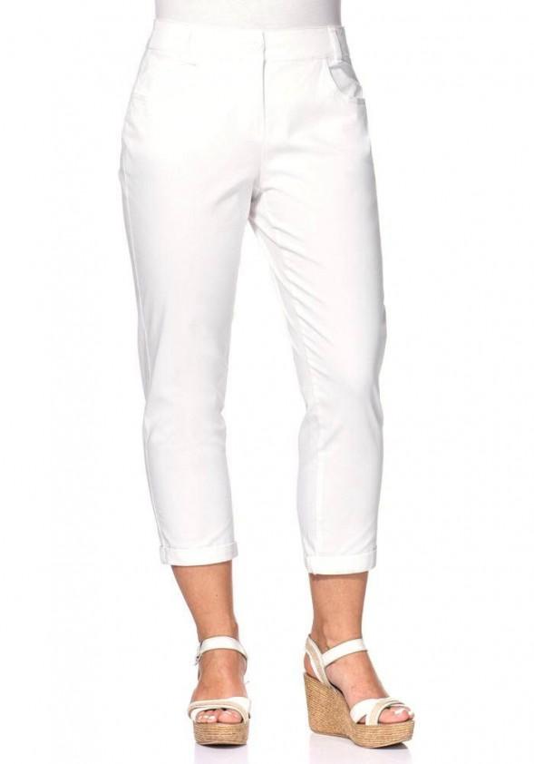 Baltos Sheego capri kelnės
