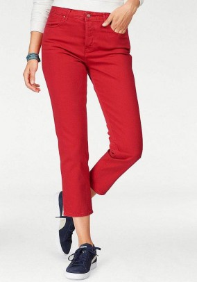 7/8 jeans, red