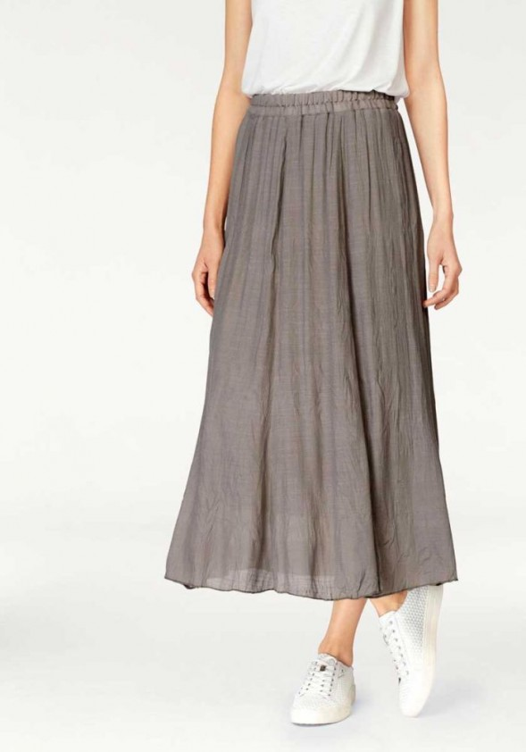 Midi ilgio rudas sijonas