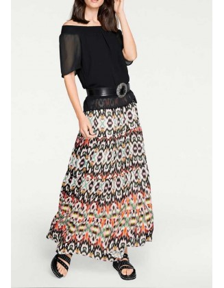 Maxi ilgio margas sijonas