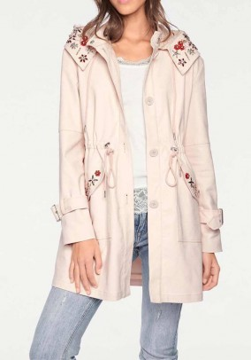 Parka with strass