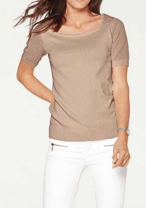 Sweater, taupe