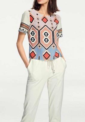 Blouse shirt, multicolour