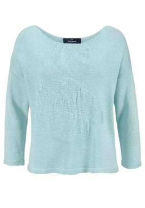 Fine knit sweater, mint