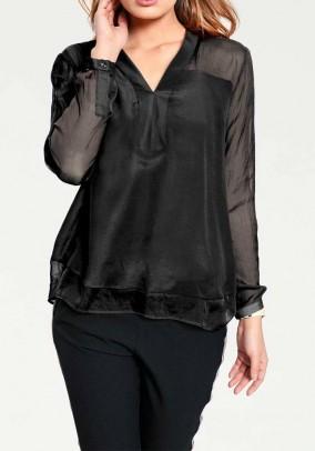 Silk blouse, black