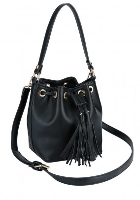 Leather imitation bag, black