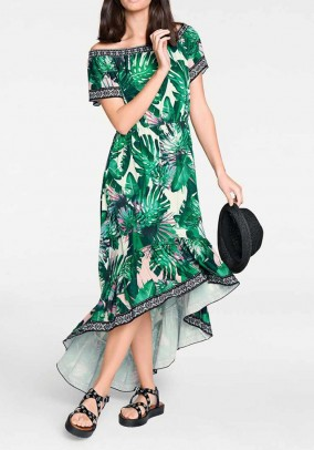 Ilga žalia vasarinė suknelė