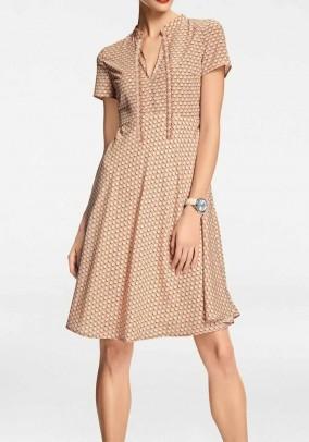 Print dress, apricot