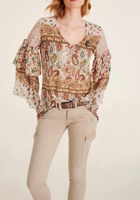 Chiffon blouse, multicolour