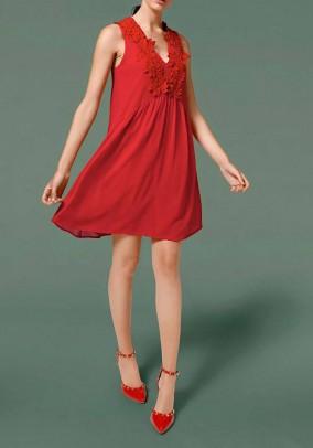 Babydoll dress, coral