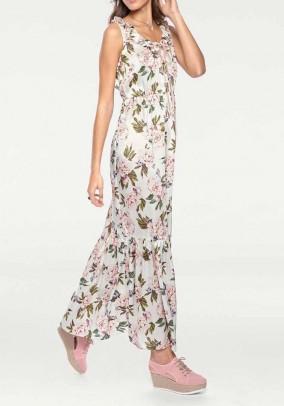 Maxi dress, offwhite-multicolour