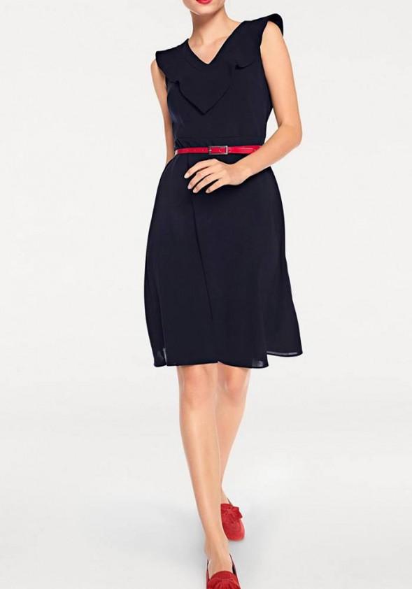 """Tamsiai mėlyna klasikinė suknelė """"Ketrin"""""""