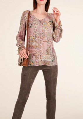 Print blouse, multicolour