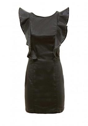 Dress with rivets, black