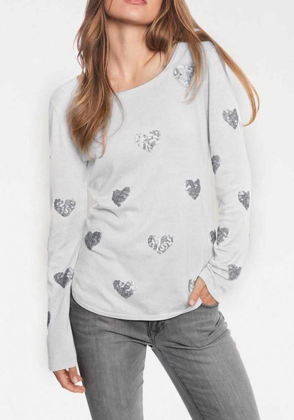 """Pilkas megztinis """"Heart"""""""