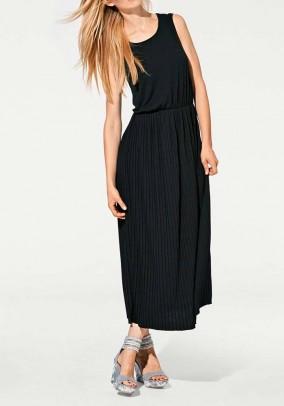 Jersey maxi dress, black